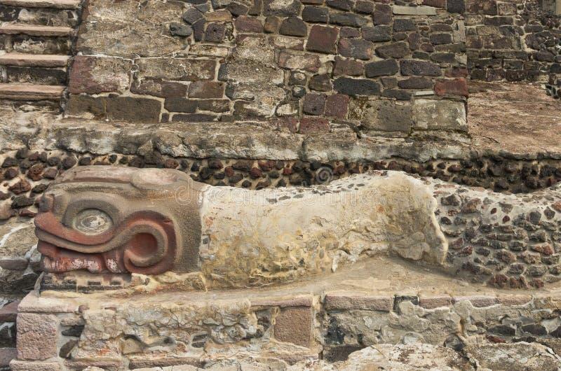 Ruinen von Templo Bürgermeister von Tenochtitlan Mexiko City stockbild