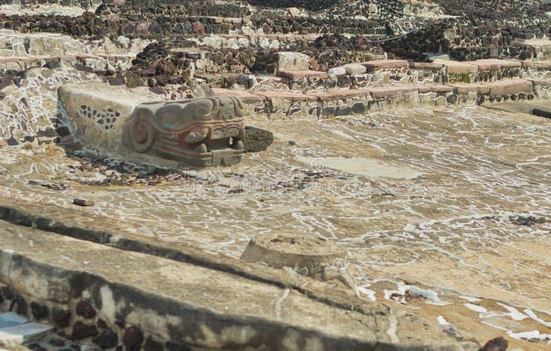 Ruinen von Templo Bürgermeister von Tenochtitlan Mexiko City lizenzfreie stockfotografie