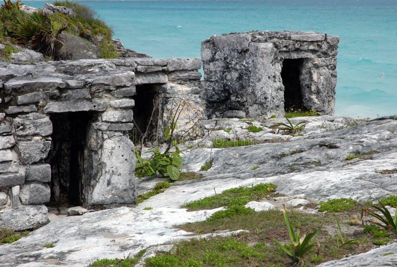 Ruinen von Tulum lizenzfreie stockfotografie