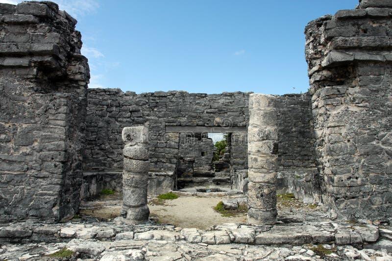 Ruinen von Tulum lizenzfreie stockfotos