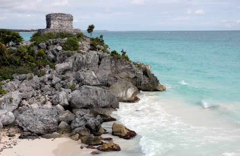 Ruinen von Tulum - Mexiko stockfotografie