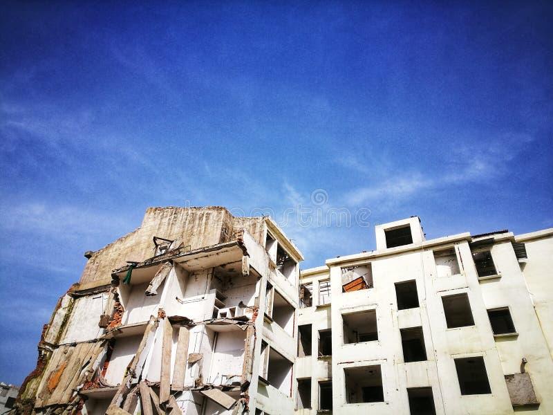 Ruinen zerstörter Wohnungen in Wuhan City hubei Provinz Porzellan stockfotografie