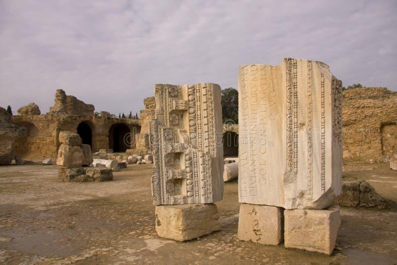 Ruines à Carthagène, Tunisie photos libres de droits