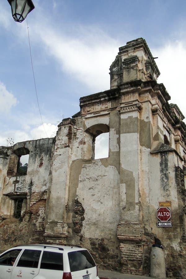 Ruines à l'Antigua, Guatemala image stock