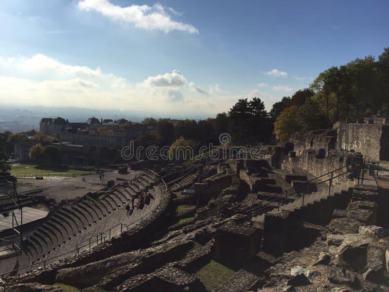 Ruines à Lyon photo libre de droits