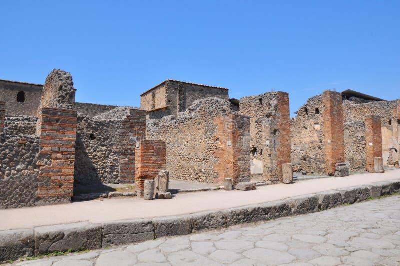 Ruines à Pompeii, Italie images stock