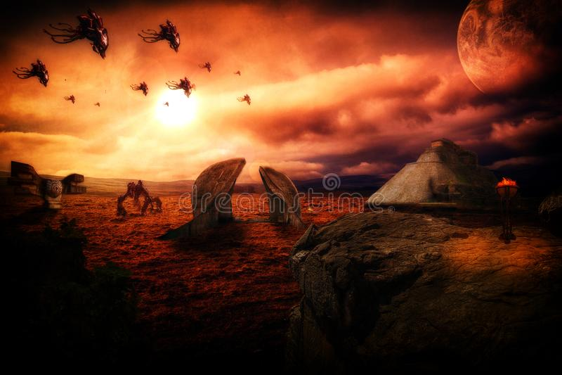 ruines мира чужеземца стоковое фото rf