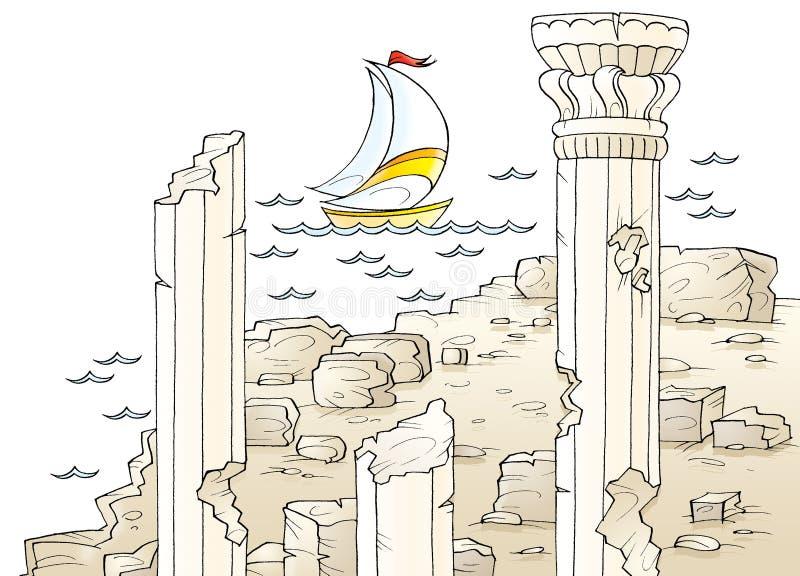 Ruines illustration libre de droits