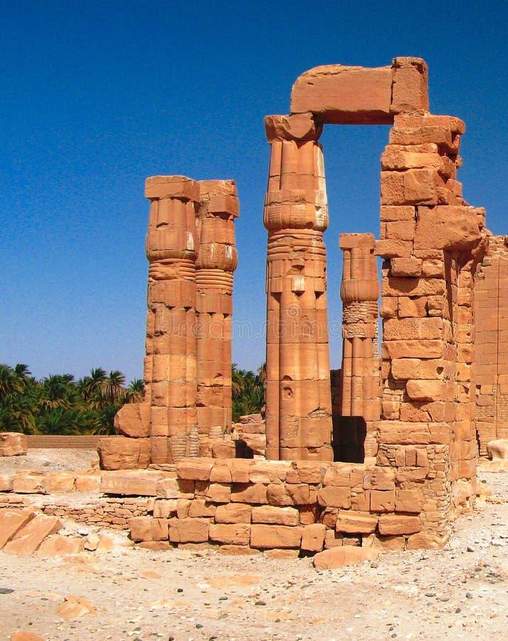 Ruines of Amun temple in Soleb at Sudan. Ruines of Amun temple in Soleb in Sudan stock photography