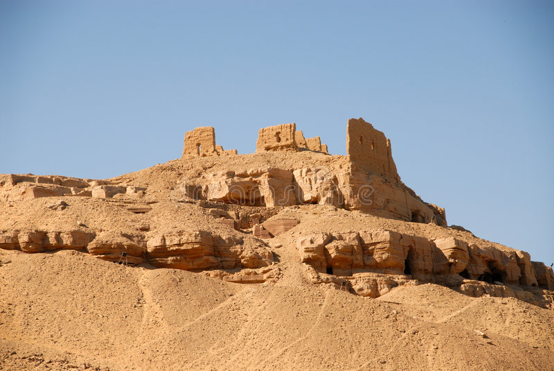 Ruines antiques à Aswan photographie stock