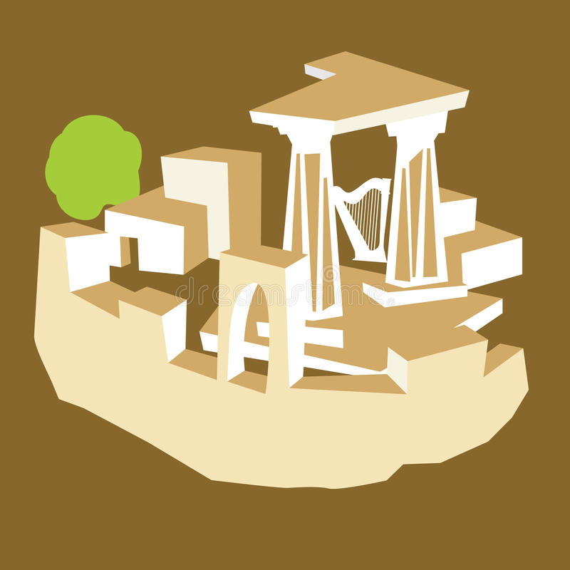 Ruines antiques illustration libre de droits