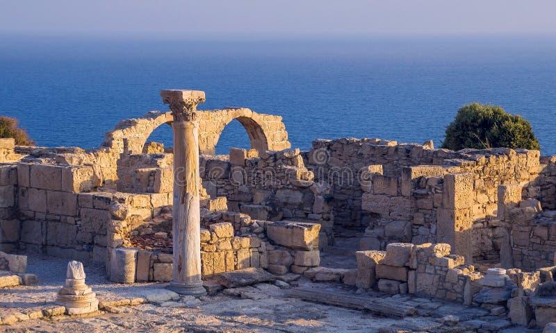 Ruines antiques chez Kourion, Chypre photo libre de droits