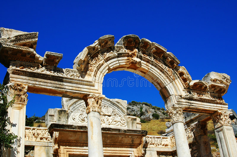 Ruines antiques d'Efez photo stock