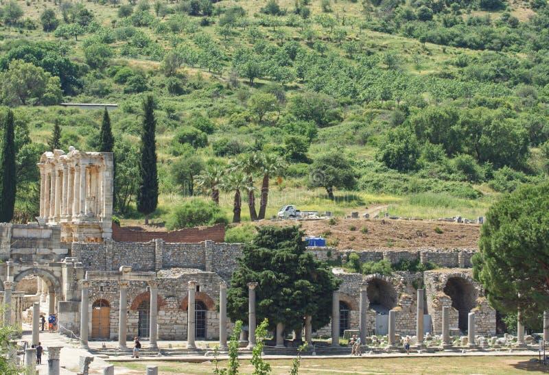 Ruines antiques d'Ephesus photos libres de droits