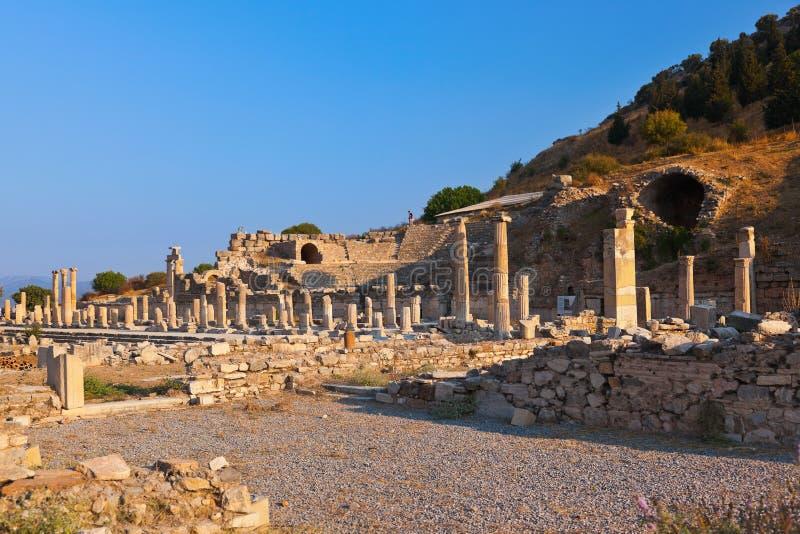 Ruines antiques dans Ephesus Turquie photo libre de droits
