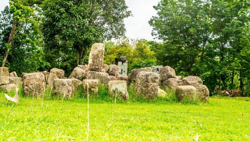 Ruines antiques de palais de Ratu Boko, Yogyakarta photographie stock libre de droits