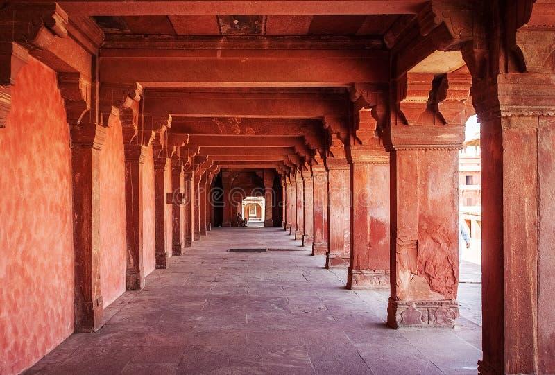 Ruines antiques de palais sikri de l'Inde de fatehpur image libre de droits