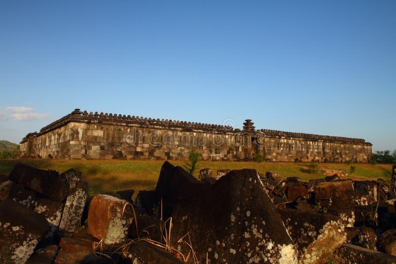 Ruines antiques de Ratu Boko images stock