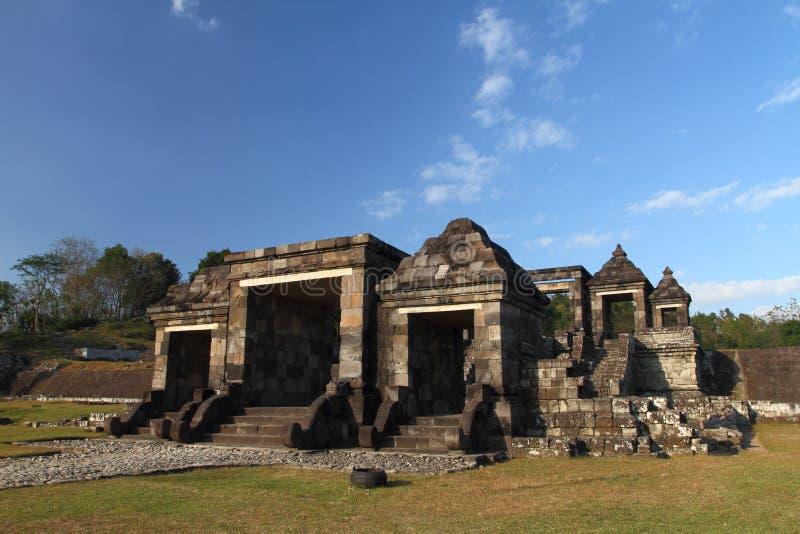 Ruines antiques de Ratu Boko photographie stock libre de droits