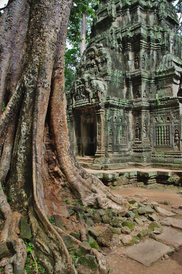 Ruines antiques de temple de Phrom de ventres à la région de Wat d'ancre photographie stock libre de droits