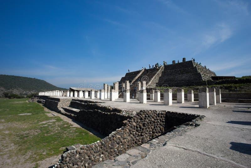 Ruines antiques de Tula de Allende images stock