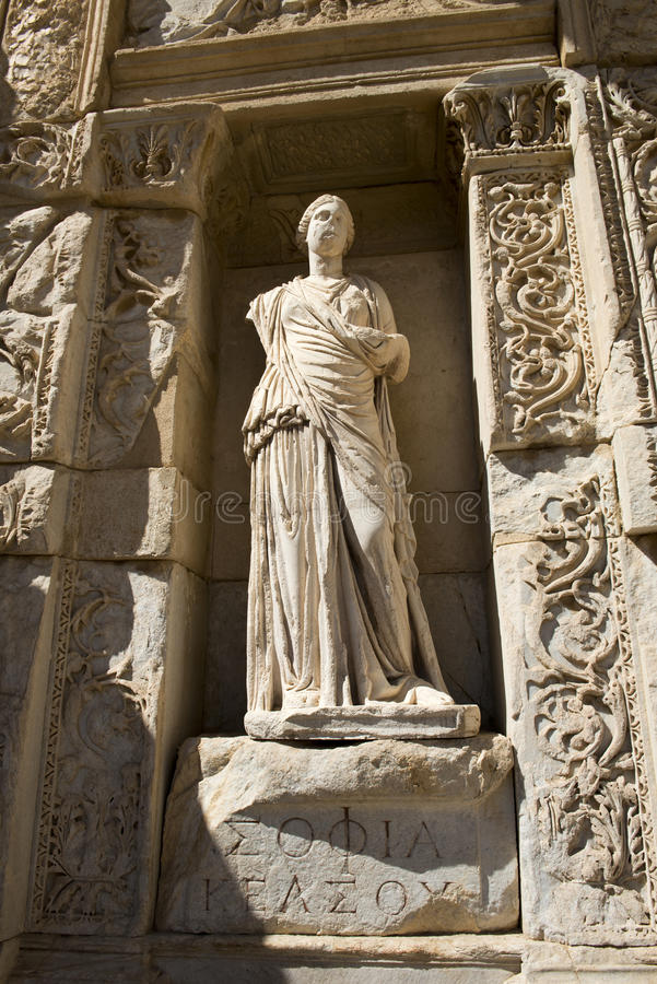 Ruines Antiques De Ville D Ephesus, Course Vers La Turquie Images libres de droits