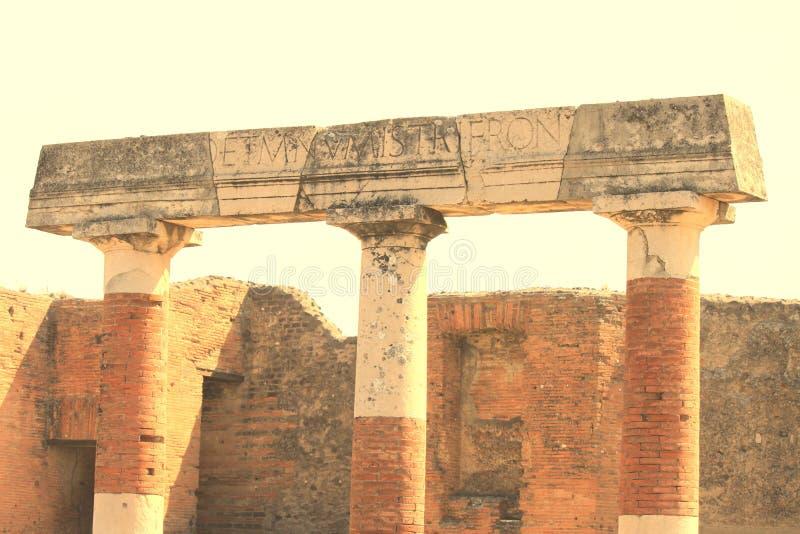Ruines antiques ? Pompeii, Italie photo libre de droits