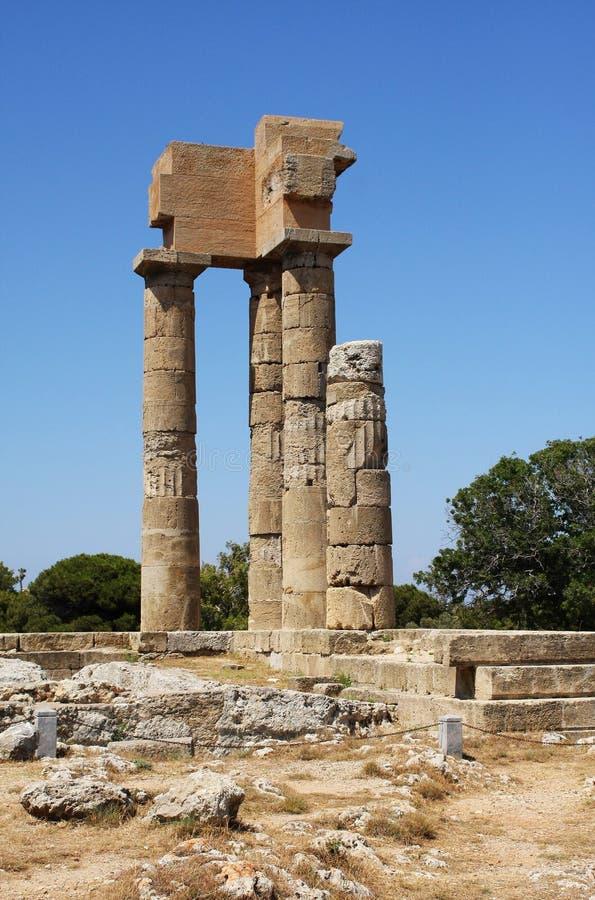 Ruines antiques - Rhodes, Grèce images stock