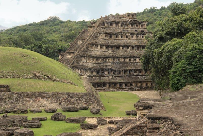 Ruines archéologiques d'EL Tajin, Veracruz, Mexique image libre de droits