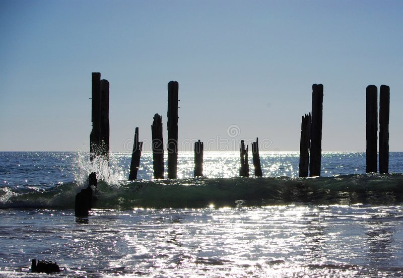 Ruines côtières image libre de droits