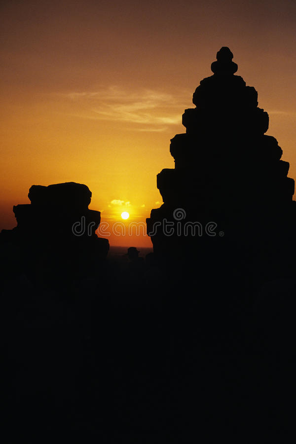 Ruines Cambodge image libre de droits