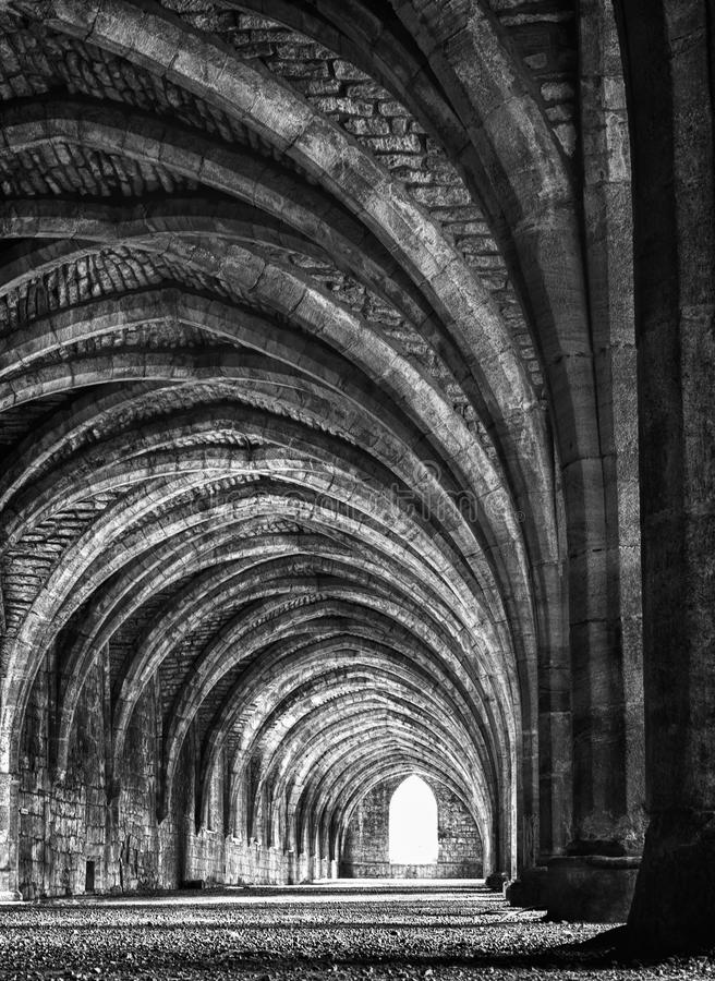 Ruines D Abbaye De Fontaines Photographie stock