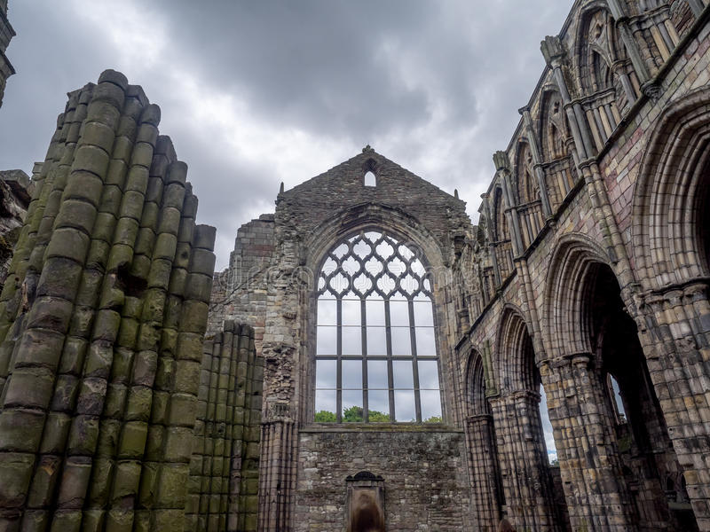 Ruines d'abbaye de Holyrood photos libres de droits