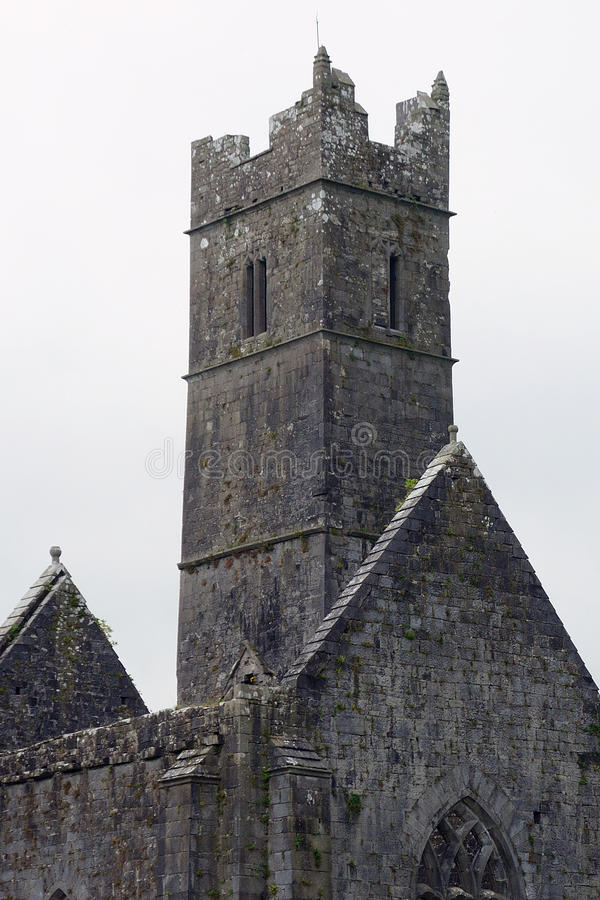 Ruines d'abbaye, Quin, Irlande photographie stock libre de droits
