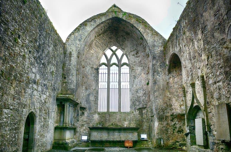Ruines d'abbaye, Quin, Irlande photo libre de droits