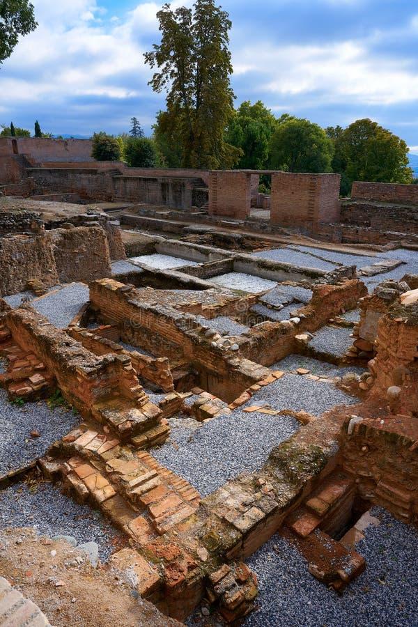 Ruines d'Alhambra à Grenade de l'Espagne photographie stock libre de droits