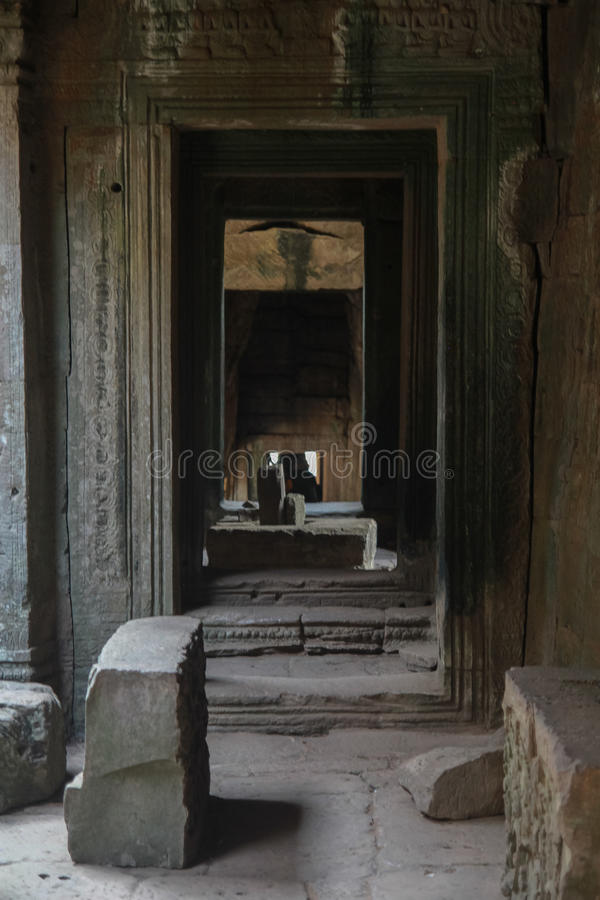 Ruines d'Angkor Vat dans la jungle photo libre de droits