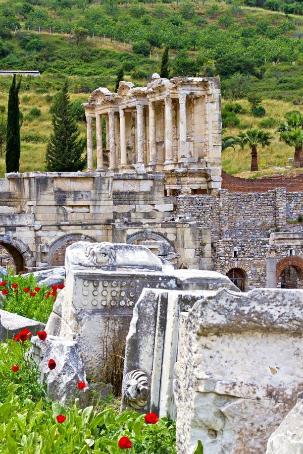 Ruines d'antiquité dans Ephesus images stock