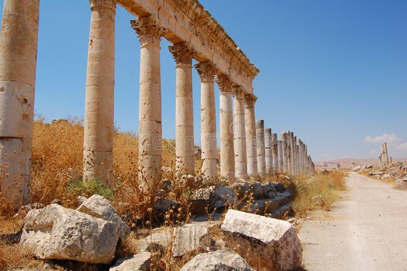 Ruines d'Aphamia, Syrie photo stock
