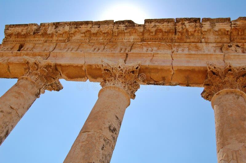Ruines d'Aphamia, Syrie images libres de droits