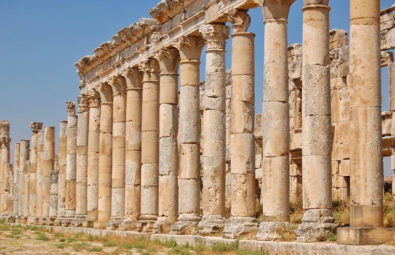 Ruines d'Aphamia, Syrie photographie stock