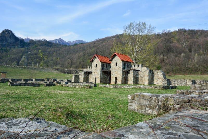 Ruines d'Arutela Roman Castle photos libres de droits