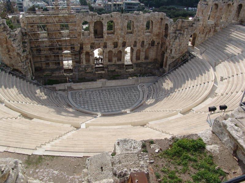 ruines d'Athènes image libre de droits