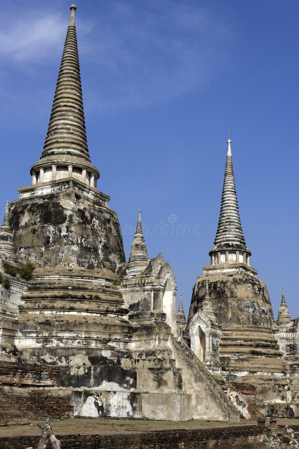 Ruines d'Ayutthaya - site de patrimoine mondial de l'UNESCO photographie stock