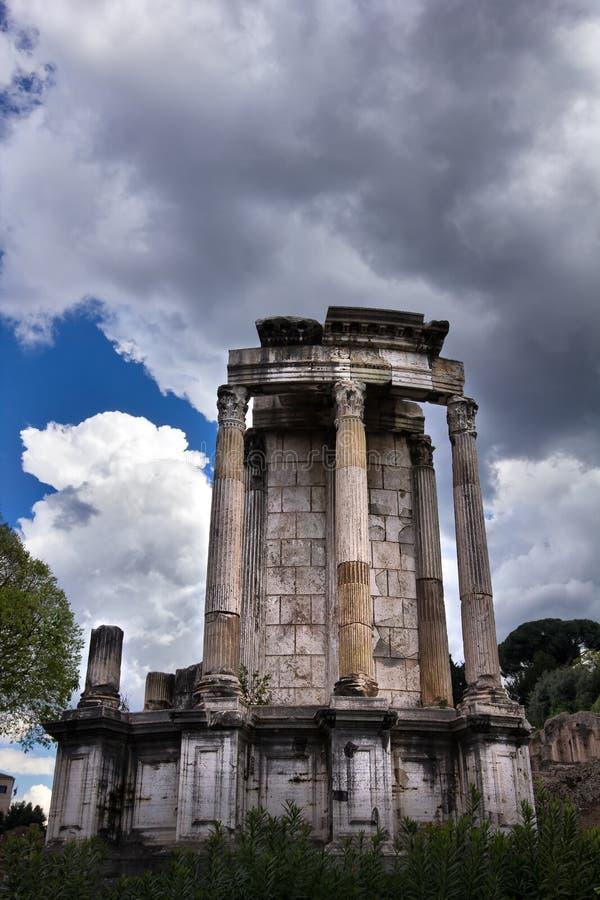 Ruines d'empire romain à Rome Italie image libre de droits