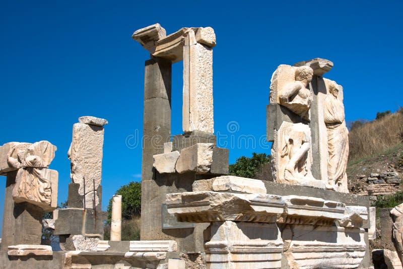 Ruines d'Ephesus antique images libres de droits