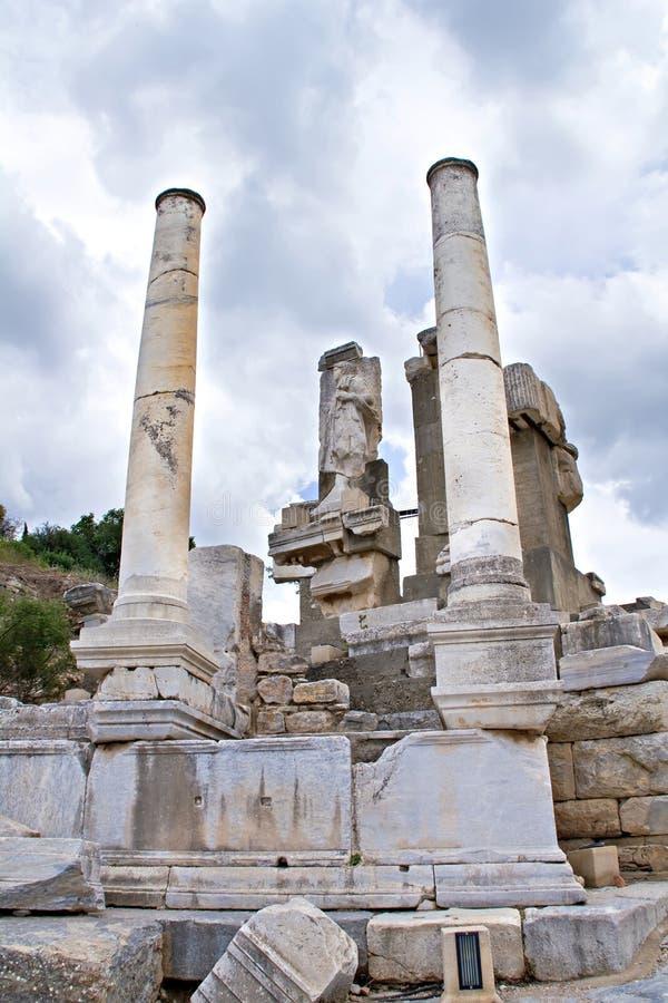 Ruines d'Ephesus antique images stock