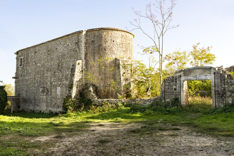 Ruines d'ermitage de Santa Maria della Provvidenza dans Noto, Sicile - Italie photographie stock