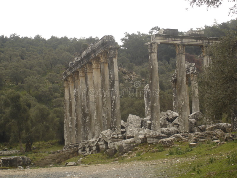 Ruines d'Euromos image stock