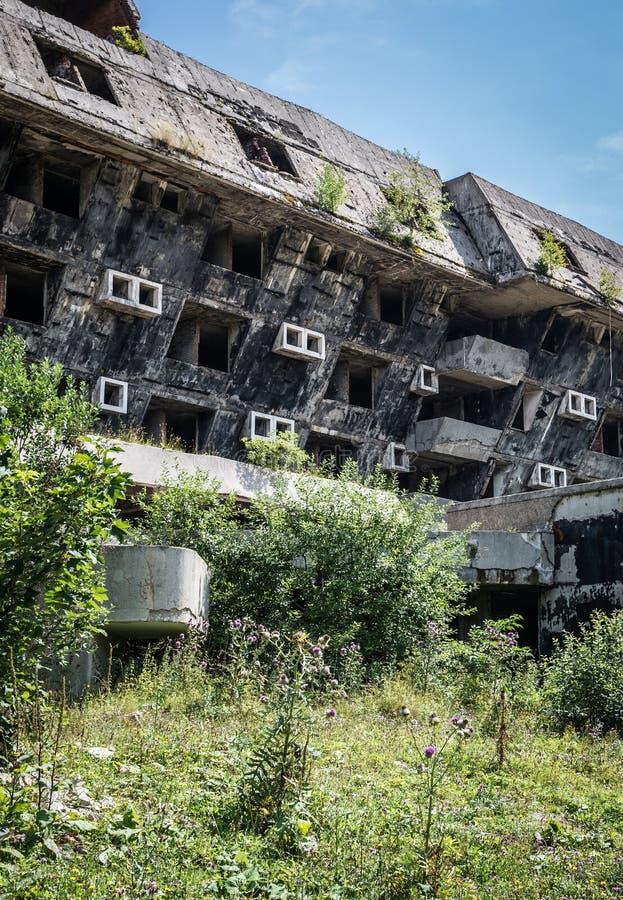 Ruines d'hôtel photographie stock